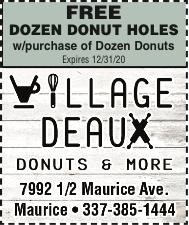 VILLAGE DEAUX:  Drive Thru for something Sweet!
