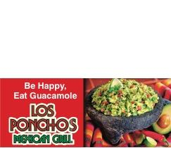 LOS PONCHOS:   We are OPEN for Take Out!
