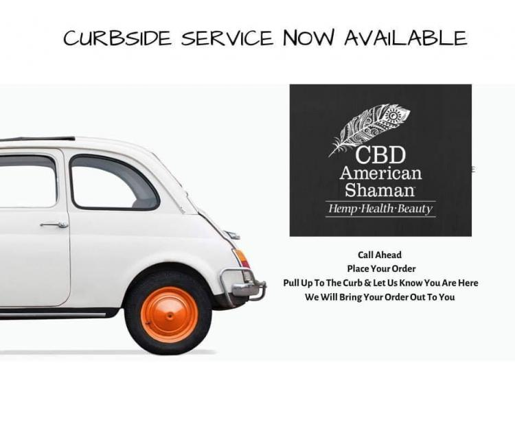 CBD AMERICAN SHAMAN:  Shop Online or Curbside Delivery!