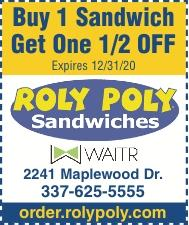 ROLY POLY:  Take Out & Delivery Services!  Use our Coupons