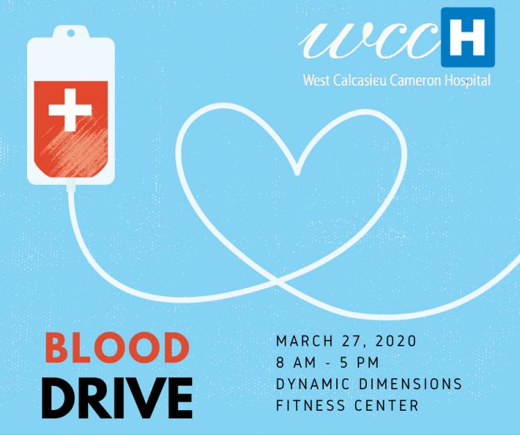 WCCH:  Blood Drive March 27th