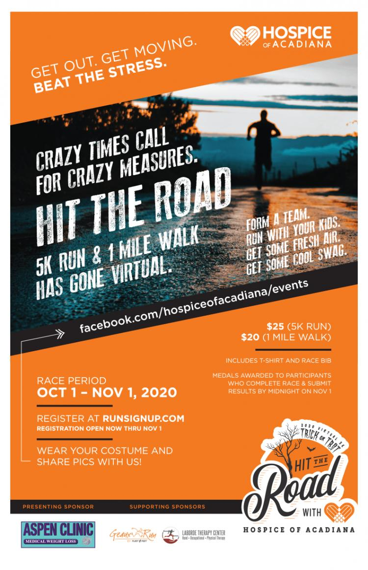 Virtual 5k Run & 1 Mile Walk - Hospice of Acadiana