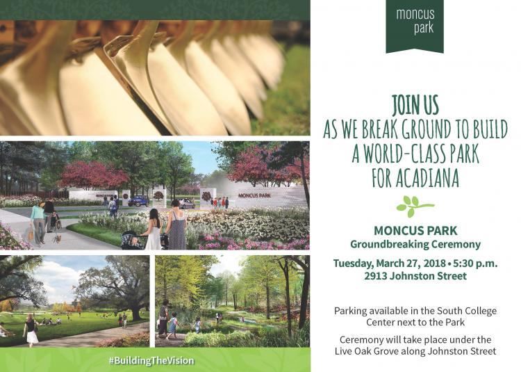 Moncus Park Groundbreaking Ceremony