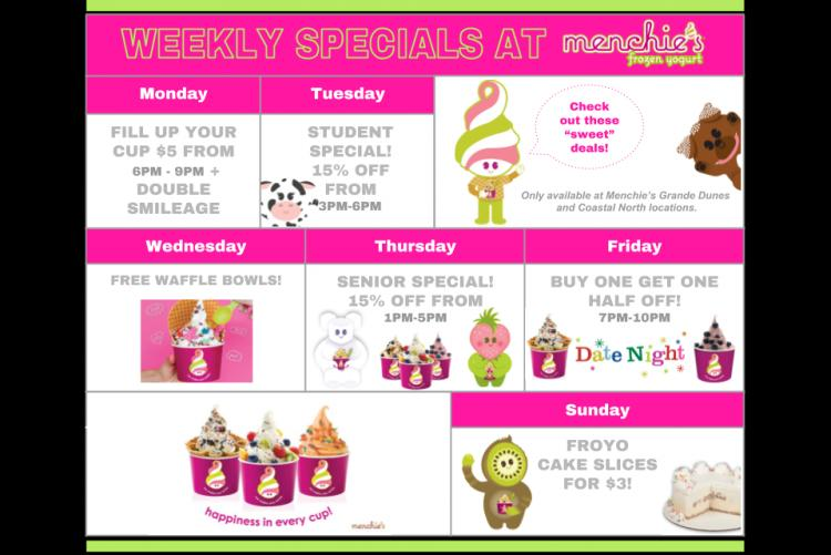 Menchies FROYO Weekly Specials