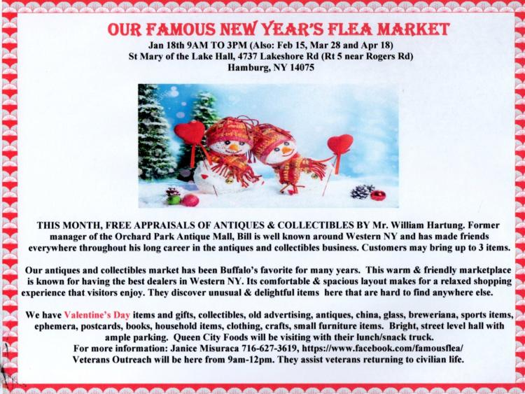 Our Famous New Year's Flea Market