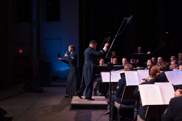 The USAF Band of the Golden West Performs in Los Banos