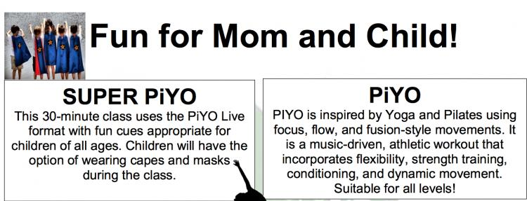PiYo- Fun for Mom and Child!