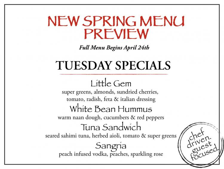 New Spring Menu Preview