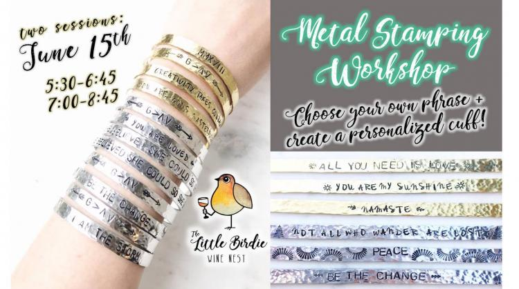 Metal Stamping Workshop | Sip & Create!