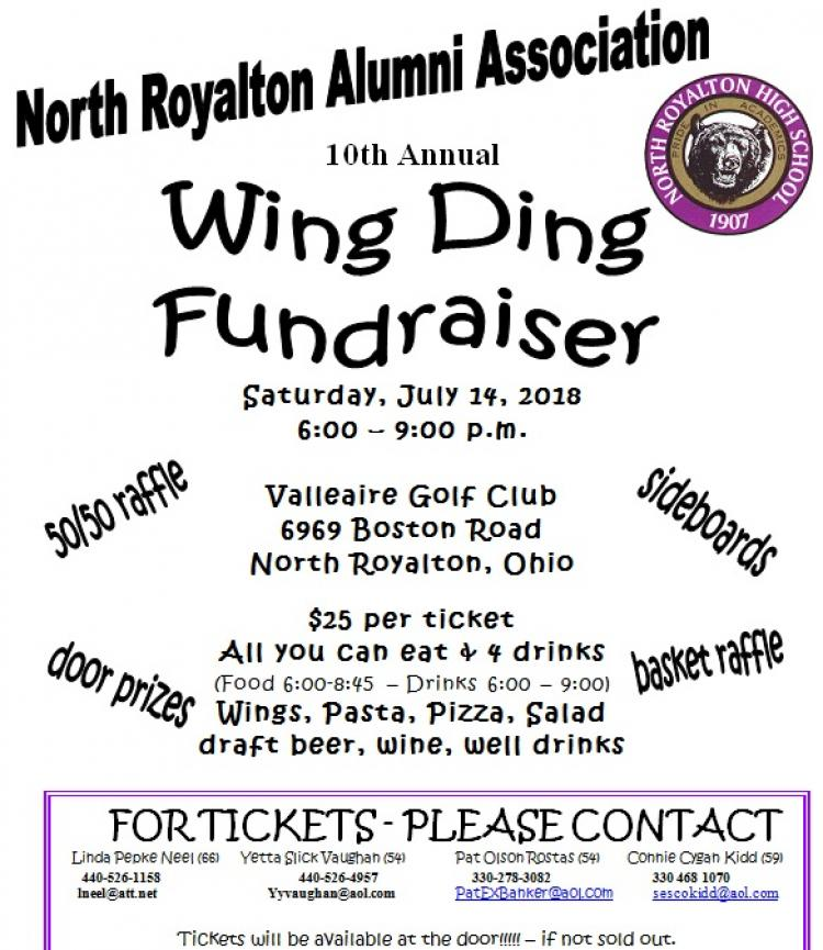 Wing Ding Fundraiser