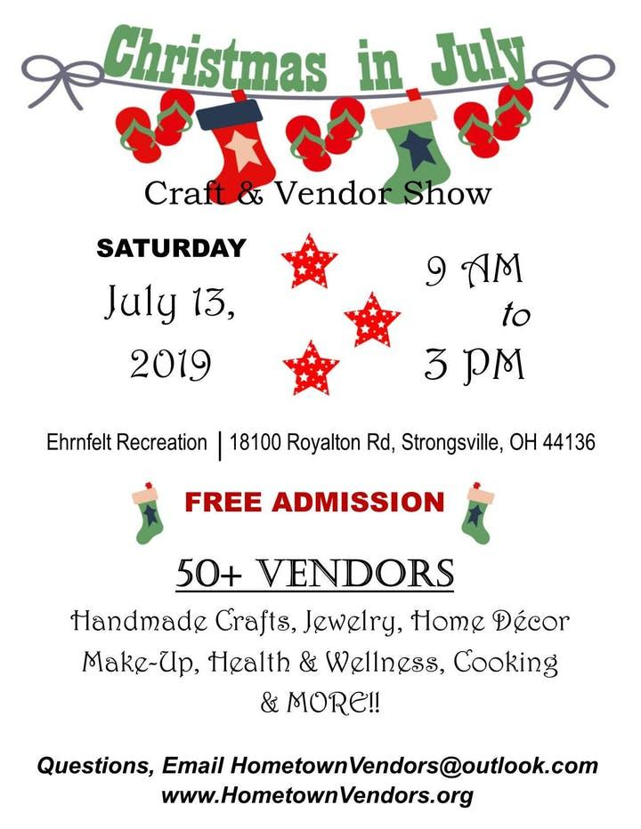 5th Annual Christmas in July Craft Show
