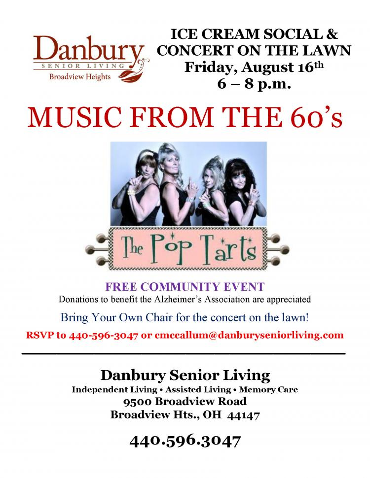 Make Your Plans Now for Aug.16th to enjoy Ice Cream and The Pop Tarts