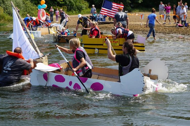 The Cardboard Boat Race at Portage Lakes