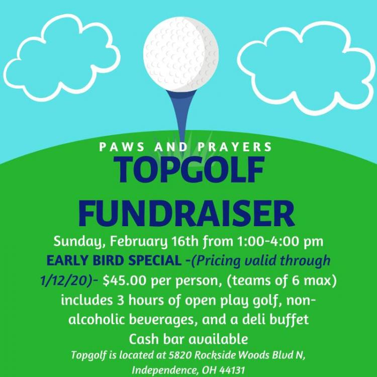 Paws and Prayers Fundraiser at Top Golf in Independence