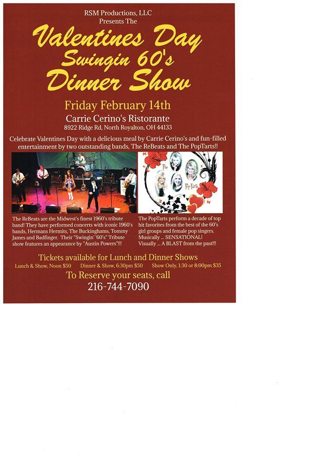 Valentines Day Swingin's 60's Lunch Show in North Royalton