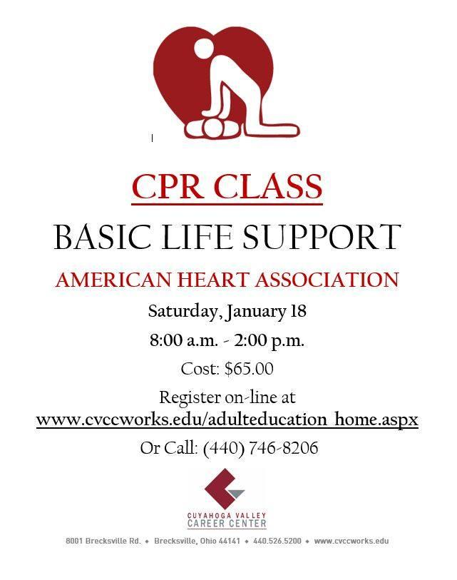 Basic Life Support CPR Class in Brecksville