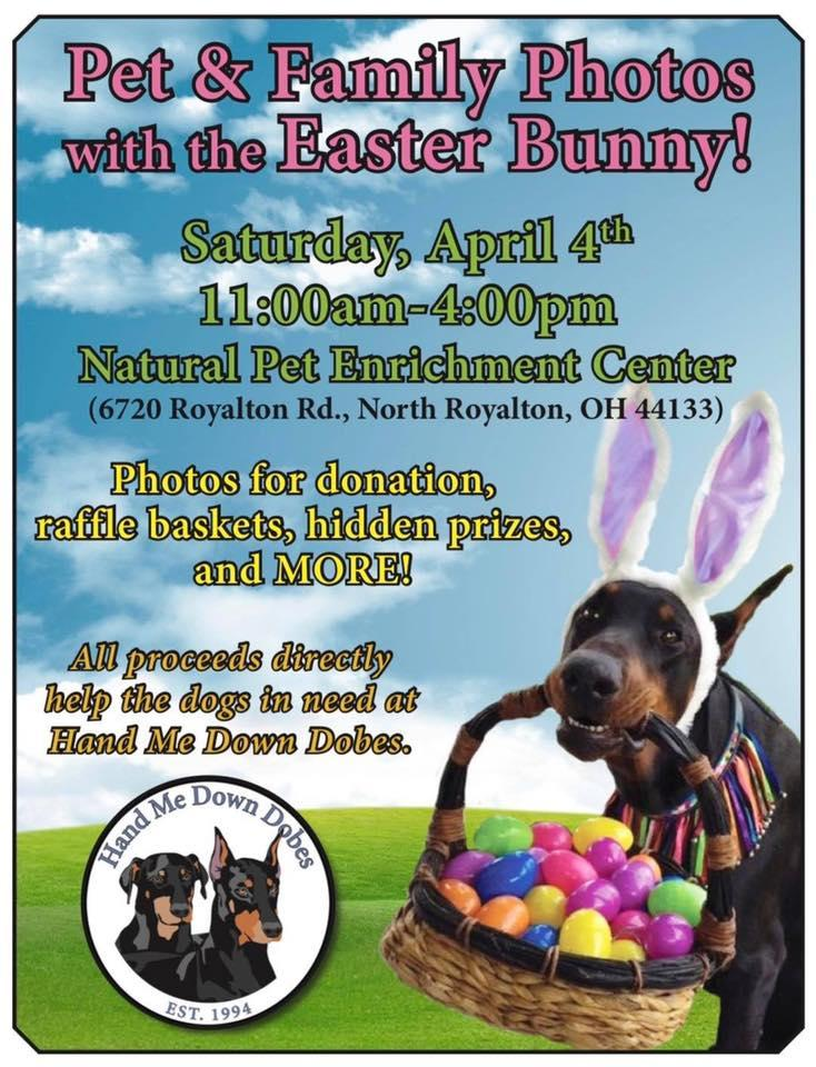 Photos with the Easter Bunny in North Royalton