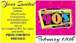 Take back to the 90's at Musketeers in Richfield