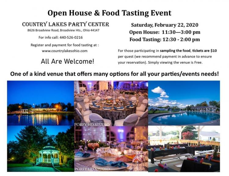 Open House and Food Tasting Event in Broadview Heights