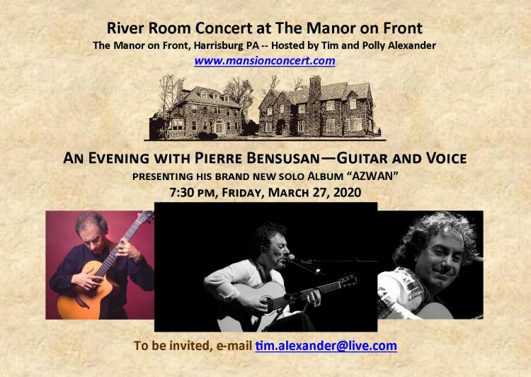 An Evening with Pierre Bensusan—Guitar and Voice