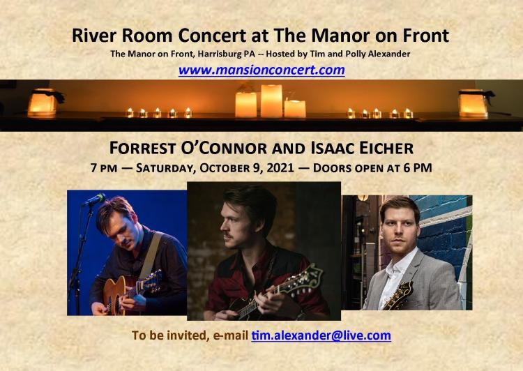 An Evening with Forrest O'Connor and Isaac Eicher - River Room Concert
