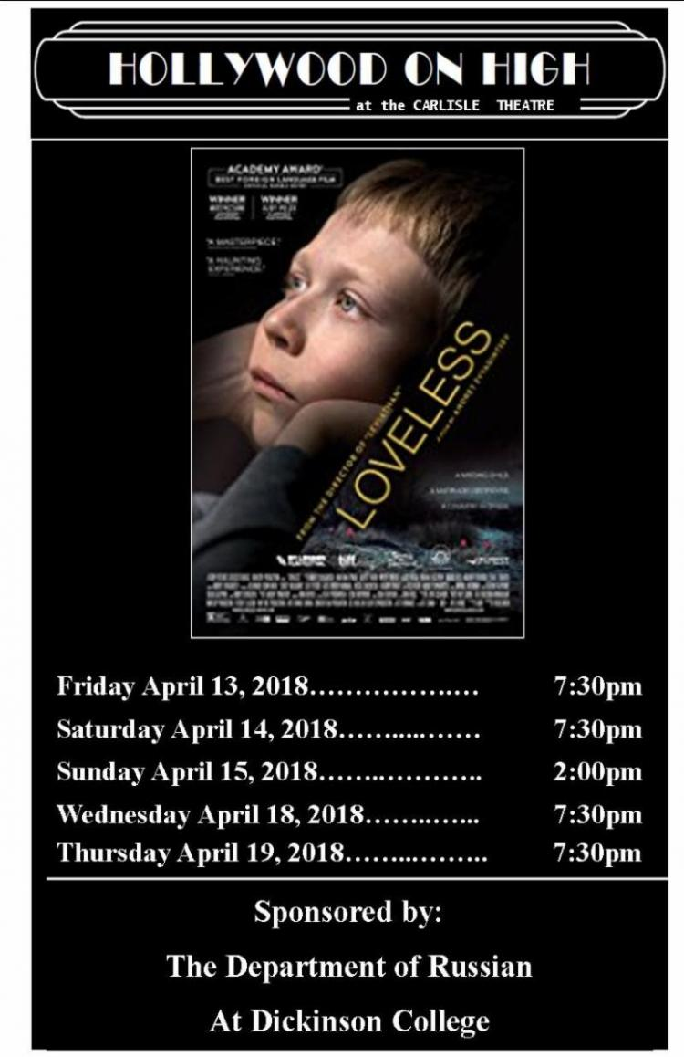 Loveless at Carlisle Theatre thru 4/19