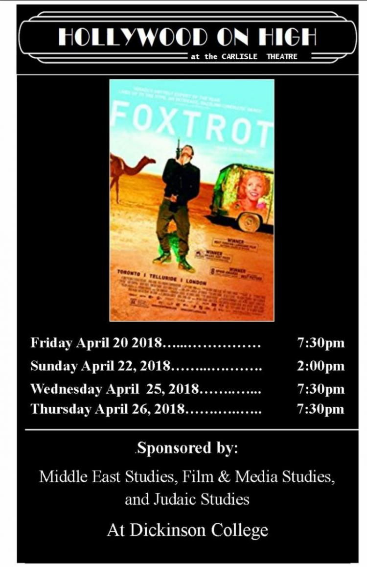 Foxtrot at Carlisle Theatre thru/ 4/26