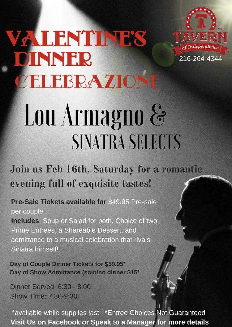 Valentine's Dinner with Sinatra Selects