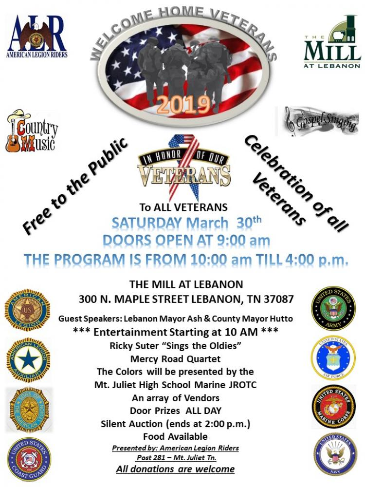 4th Annual Welcome Home Veterans Celebration