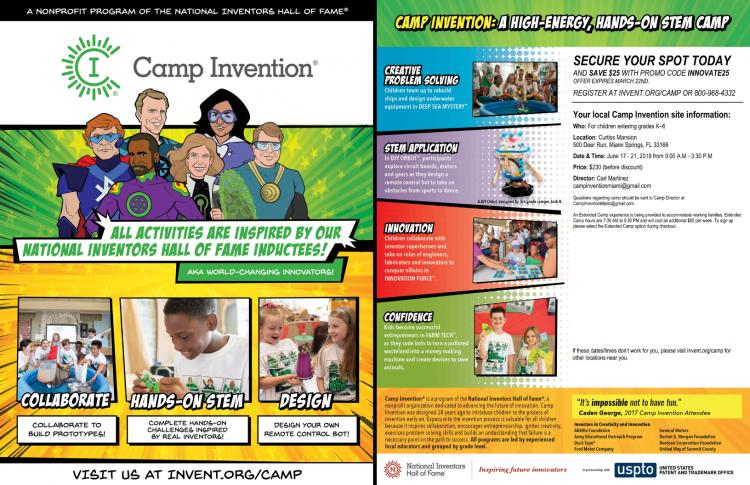 Camp Invention at the Curtiss Mansion