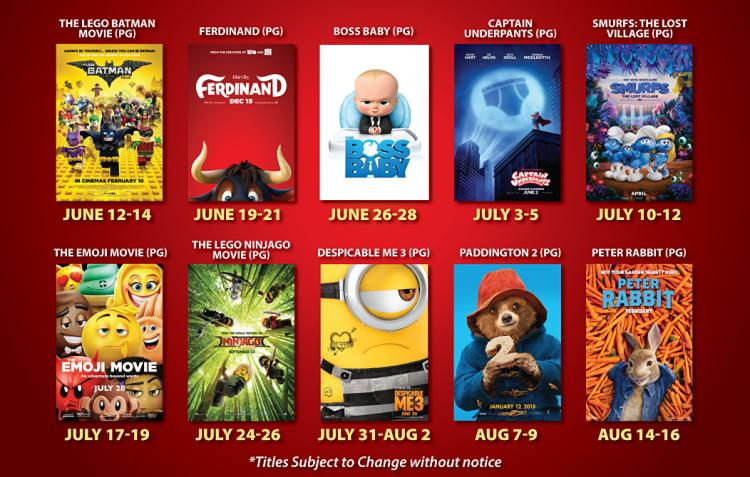 $1.00 Summer Kid Shows at Sun Valley 14