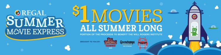 $1.00 Kids Summer Movie Express at Regal Starlight Stadium 14