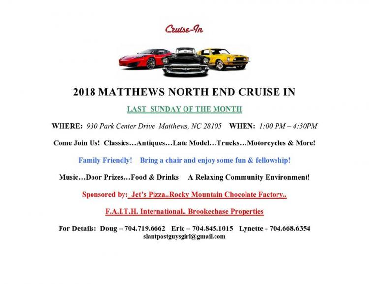 Matthews North End Cruise In