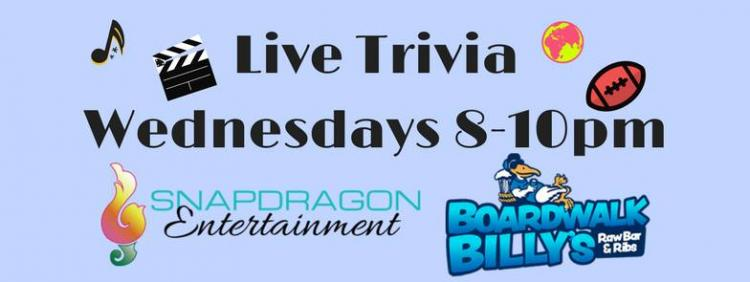 Live Trivia Wednesdays at Boardwalk Billy's UNCC