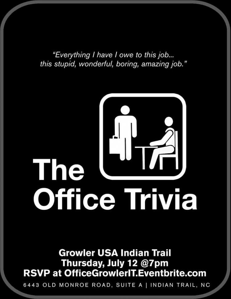 The Office Trivia at Growler Indian Trail