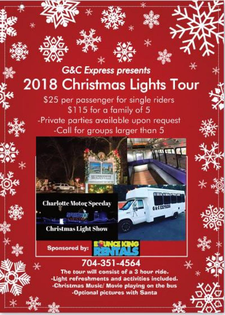 Christmas Lights Tour to Mcadenville