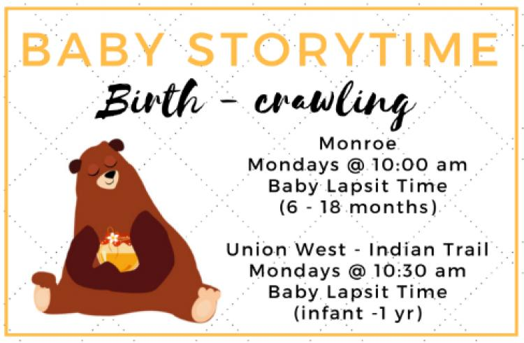 Baby Lapsit Storytime at the Monroe Library