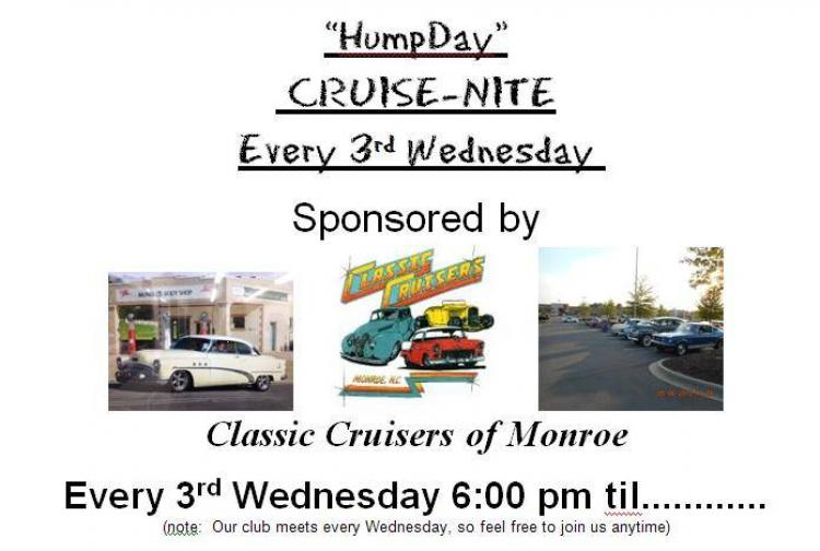Classic Cruisers of Monroe Hump Day Cruise Night