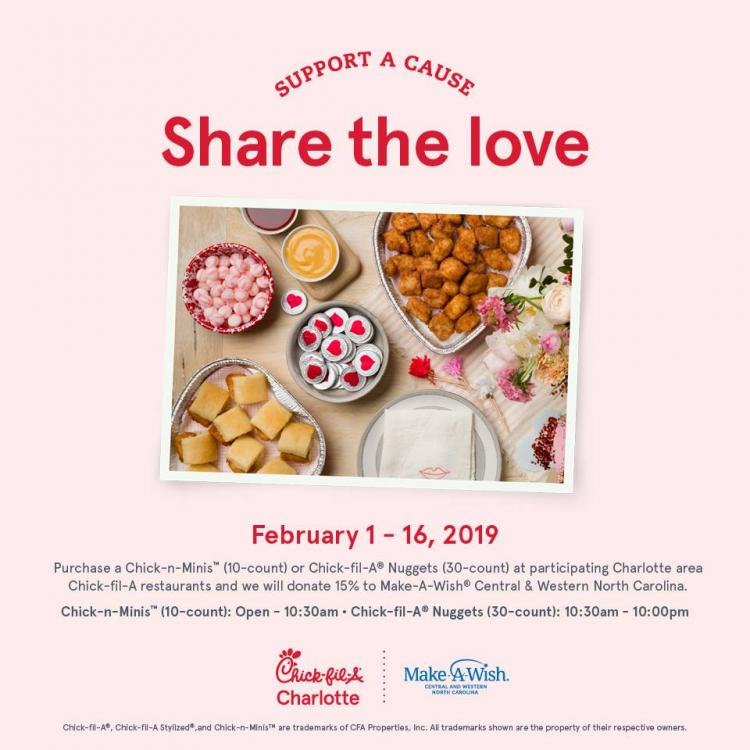Share The Love Fundraiser for Make-A-Wish