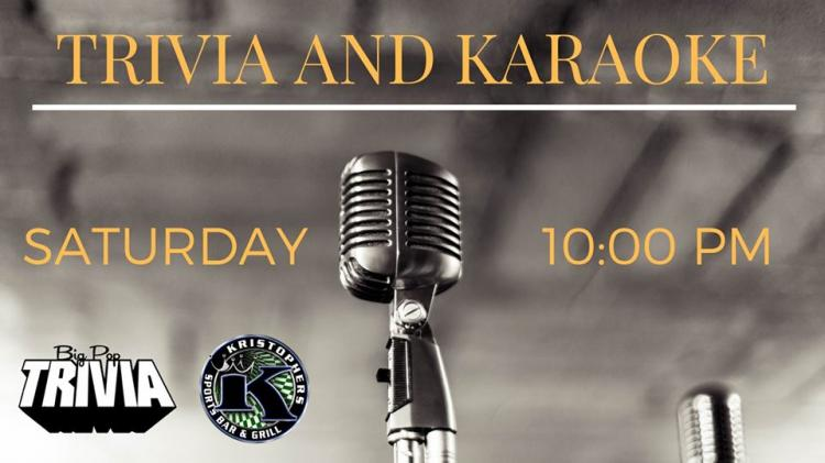 Trivia and Karaoke at Kristopher's Sports Bar & Restaurant