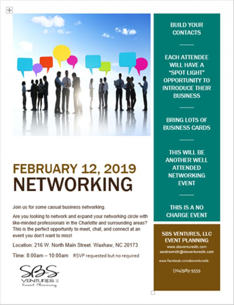 Quarterly Networking Event by SBS Ventures