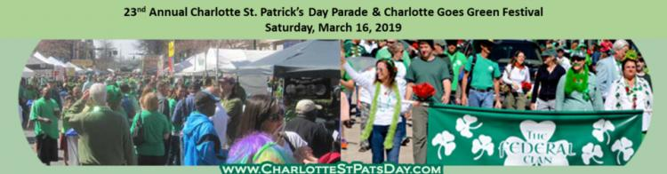 2019 Charlotte St. Patrick's Day Parade and Charlotte Goes Green Festival