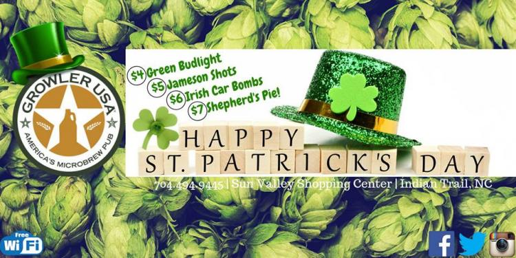 Growler Goes Green On St. Paddy's!