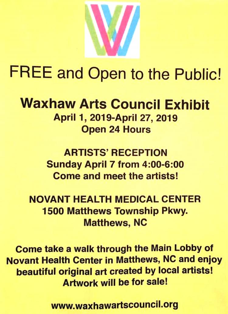 Waxhaw Arts Council Exhibit