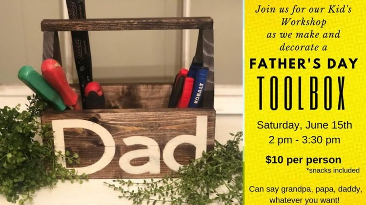 Kids Workshop - Fathers Day Toolbox