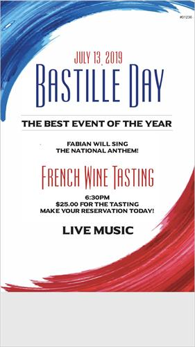 Grapes Wine Bar - Bastille Day Wine Event
