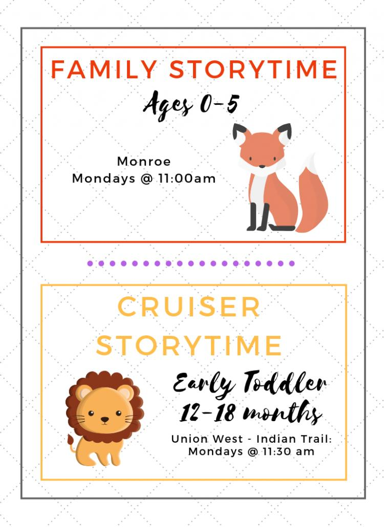 Family Storytime at Monroe Library