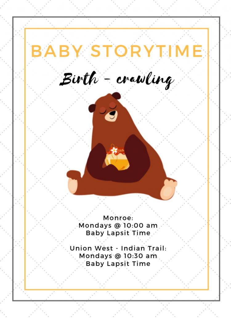 Baby Lapsit Storytime at Indian Trail Library