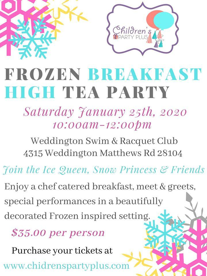 Frozen Breakfast High Tea Party
