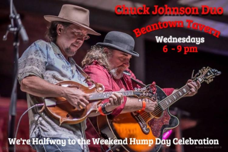 Come spend your halfway to the weekend/Hump day with the Chuck Johnson Duo at Be